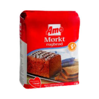 AMO Mørkt Rugbrød - Dark Rye Bread Mix - short Date Sale