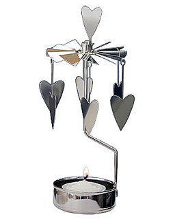 Hearts - rotary tealight candle holder