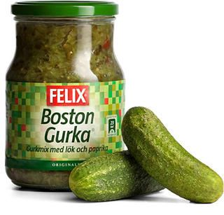Felix Boston Gurka - Cucumber pickle relish - short date sale 18/3/2017