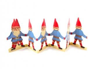 Fold Out Paper Row - Norwegian Nisse