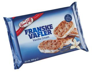 Franske Vafler - French Waffles - Vanilla Cream Cookies - Short Date Sale