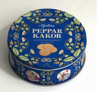 Nyåkers Ginger Snaps - Gift Tin - Blue - Short Date Sale 06/12/2019