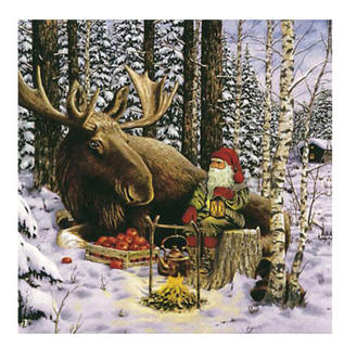 Christmas Serviettes - Santa & Moose