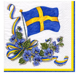 Swedish Flag Serviette - one large flag