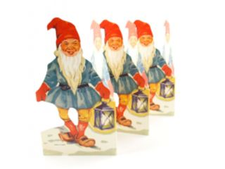 Fold Out Paper Row - Santa with lantern