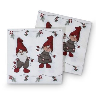 Christmas Serviettes - Danish Nisser