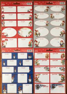 God Jul Gift stickers with Santa motif - 20p