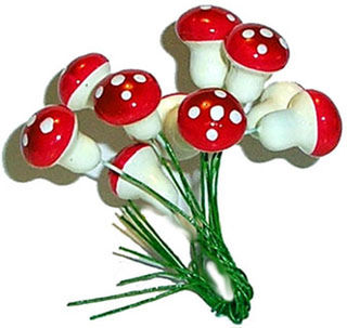 Julsvampar - Christmas mushroom decorations - Small