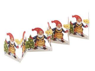 Fold Out Paper Row - Santa with candles