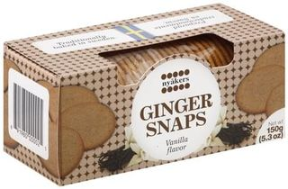 Nyåkers Ginger snaps - vanilla - Short date sale 18/12/2020