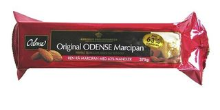 LARGE Odense Ren Rå Marcipan 375g  - Pure Raw Marzipan 63 % Almond 375g
