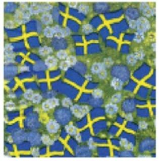 Floral Flag Serviettes - Sweden -Small flags