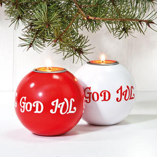 Wooden Candle Holder - God Jul - Tealight