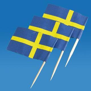 Toothpick Flags - Sweden