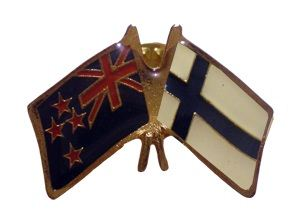 Finland friendship flag pins - NZ Flag
