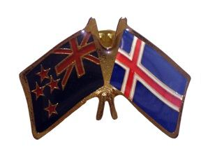 Iceland friendship flag pins - NZ Flag