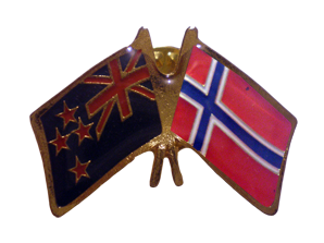 Norway friendship flag pins -NZ Flag