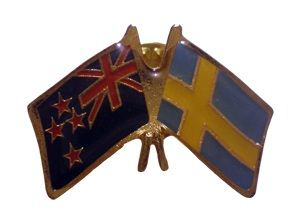 Sweden friendship flag pins - NZ Flag
