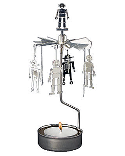 Robot - rotary tealight candle holder