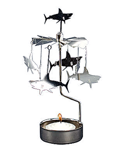 Shark - rotary tealight candle holder