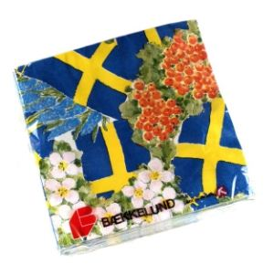 Floral Flag Serviettes - Sweden