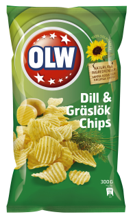 OLW Dill & Chive Chips - large 275g bag