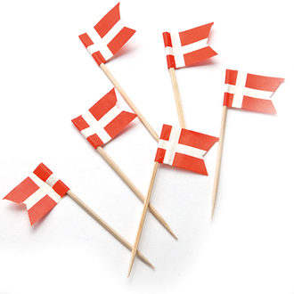 Toothpick Flags Small - Denmark
