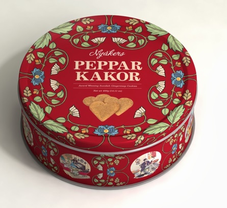 Nyåkers Ginger Snaps - Gift Tin - Red