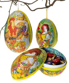 Easter Egg - 12cm with string textile