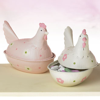 Metal Easter Hen Bowl