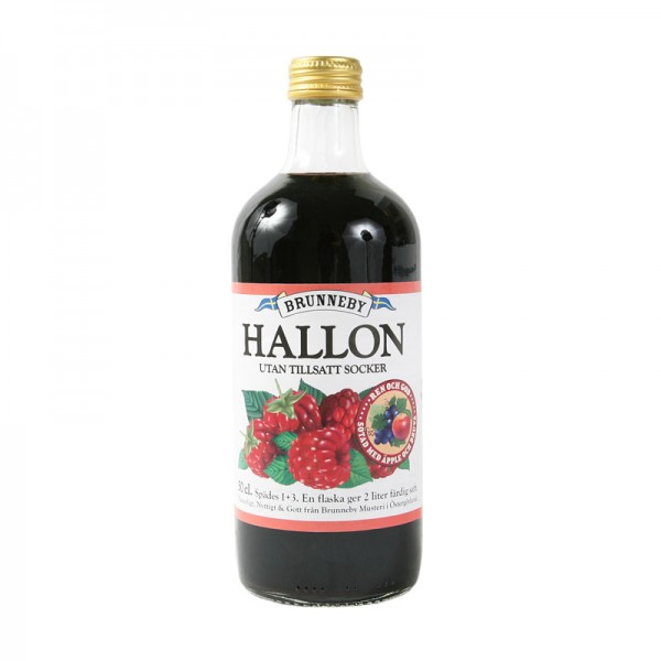 Brunneby osockrad Hallonsaft - Raspberry concentrate, no added sugar - Short Date Sale