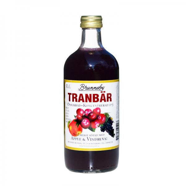 Brunneby osockrad Tranbärsaft - Cranberry Concentrate, no added sugar - Short date Sale