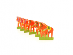 Fold Out Paper Row - Dala horse Mini
