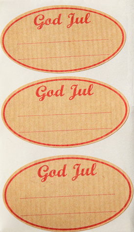 God Jul Paper Gift Stickers