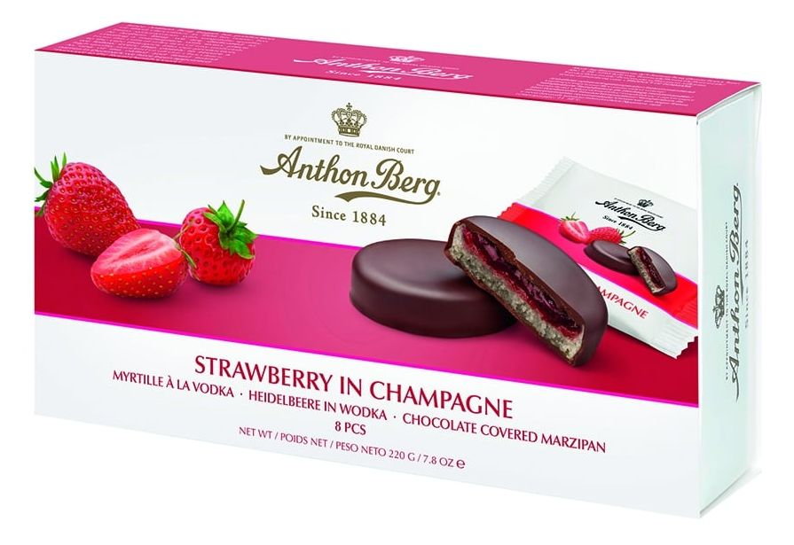 Anthon Berg - Strawberry in Champagne 275g - Short Date Sale