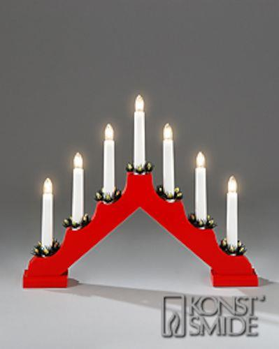 Adventljusstake LED - electrical LED advent candles - red