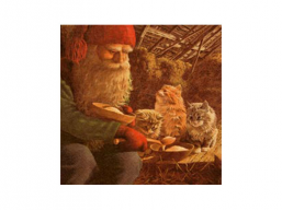 Christmas Serviettes - Santa & Cats