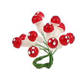 Julsvampar - Christmas mushroom decorations - mini
