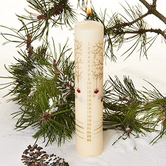 Calendar Candle Creme - 50mm