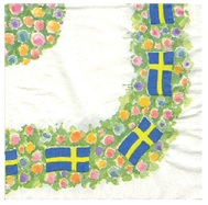 Flag Border Serviette - Swedish