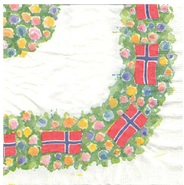 Flag Border Serviette - Norwegian