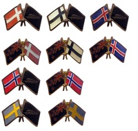 Friendship Flag Pins